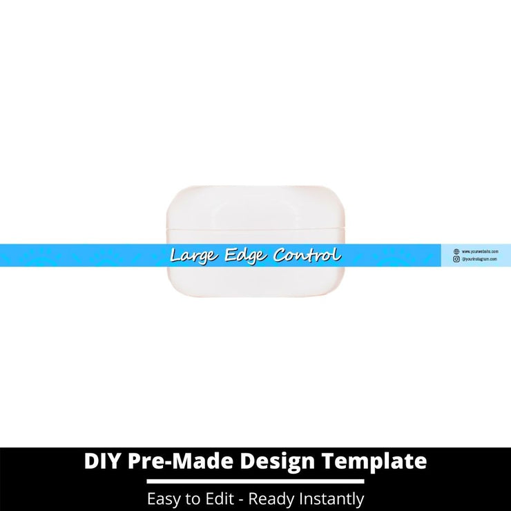 Large Edge Control Side Label Template 241