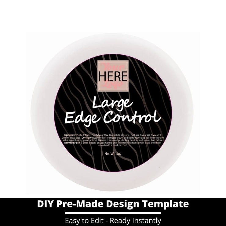 Large Edge Control Top Label Template 6