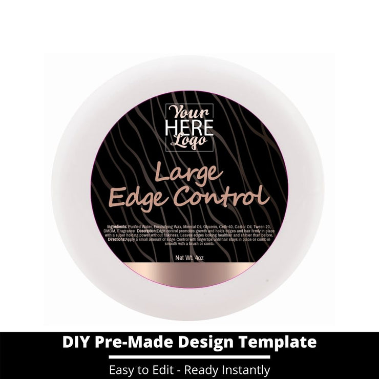 Large Edge Control Top Label Template 7
