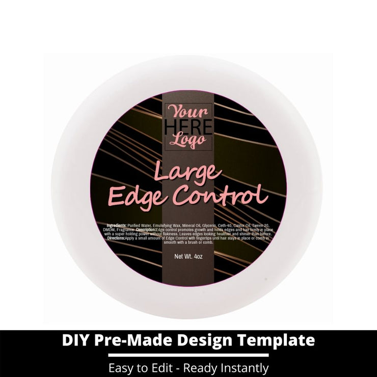 Large Edge Control Top Label Template 12