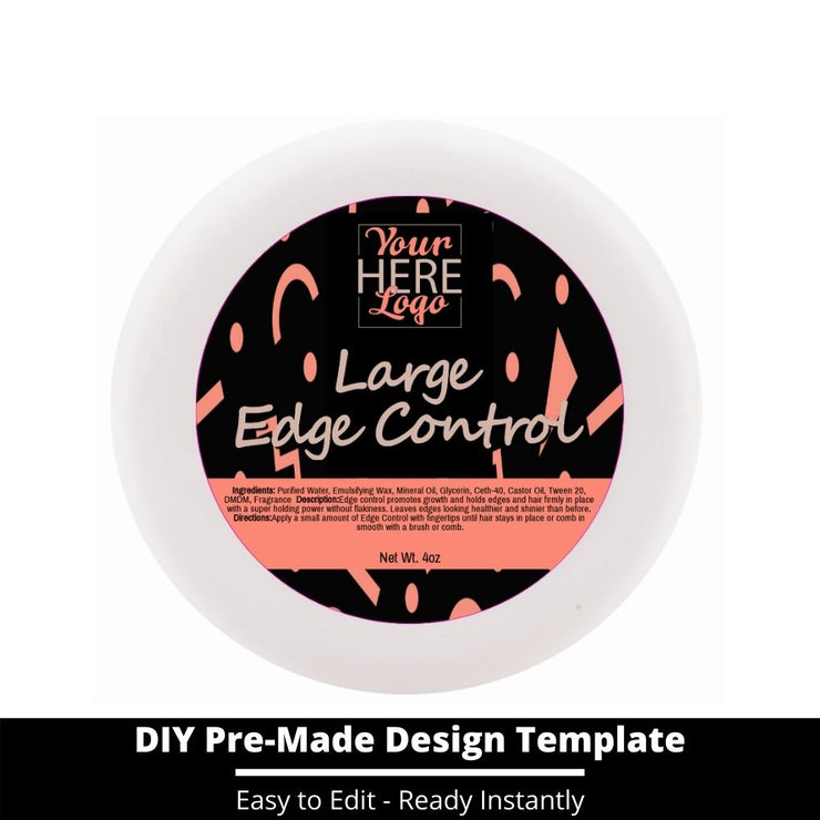 Large Edge Control Top Label Template 13