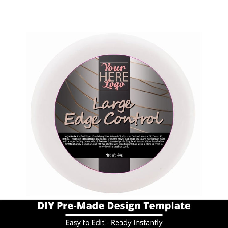 Large Edge Control Top Label Template 15