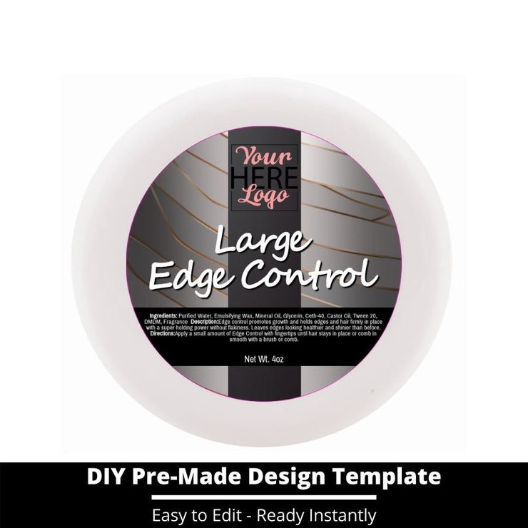Large Edge Control Top Label Template 16
