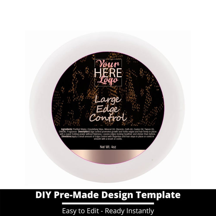 Large Edge Control Top Label Template 19