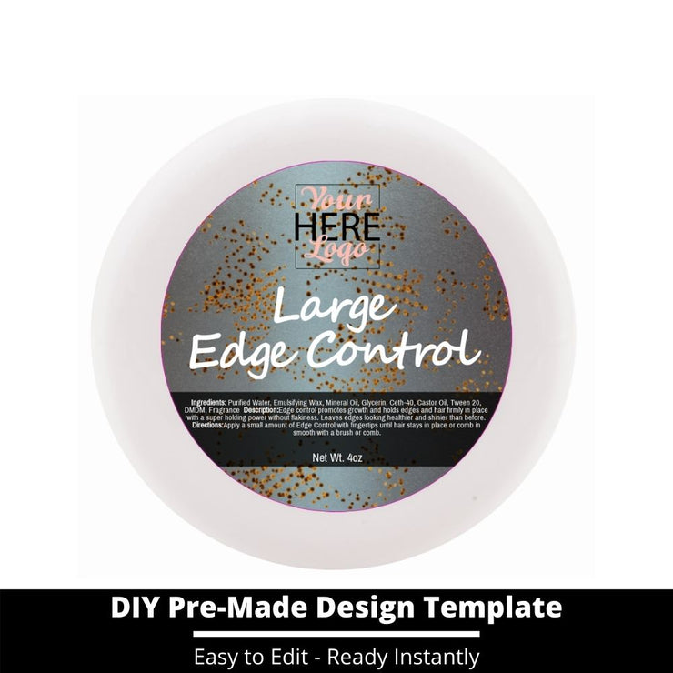 Large Edge Control Top Label Template 26