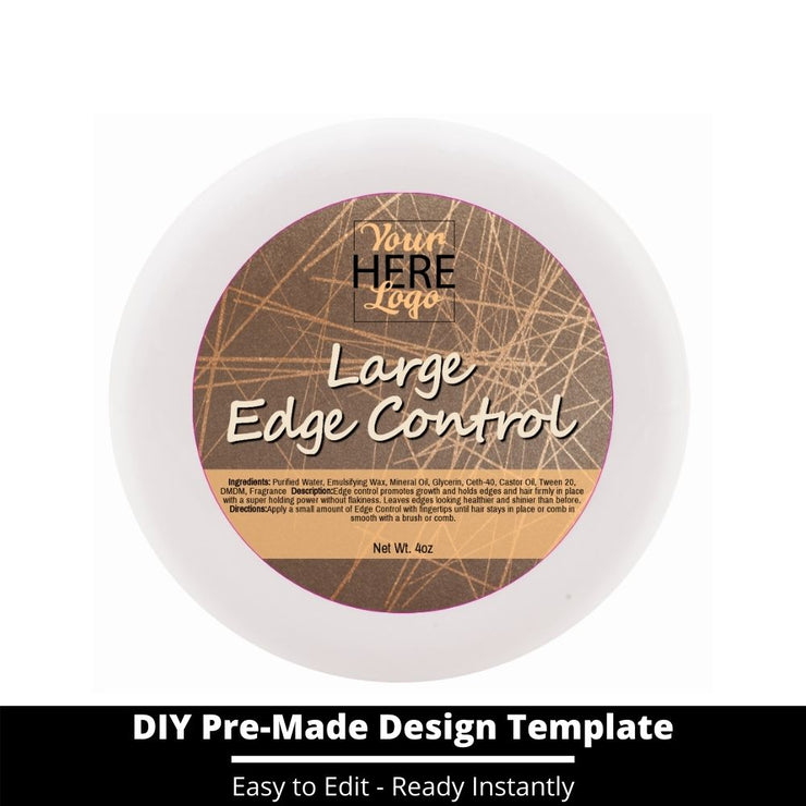 Large Edge Control Top Label Template 28