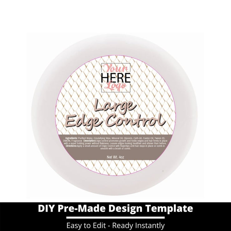 Large Edge Control Top Label Template 40