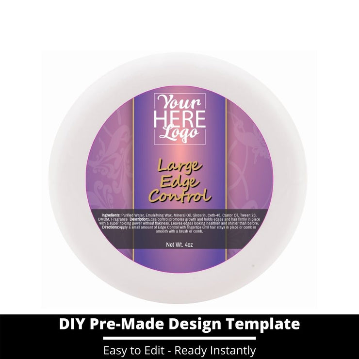 Large Edge Control Top Label Template 44