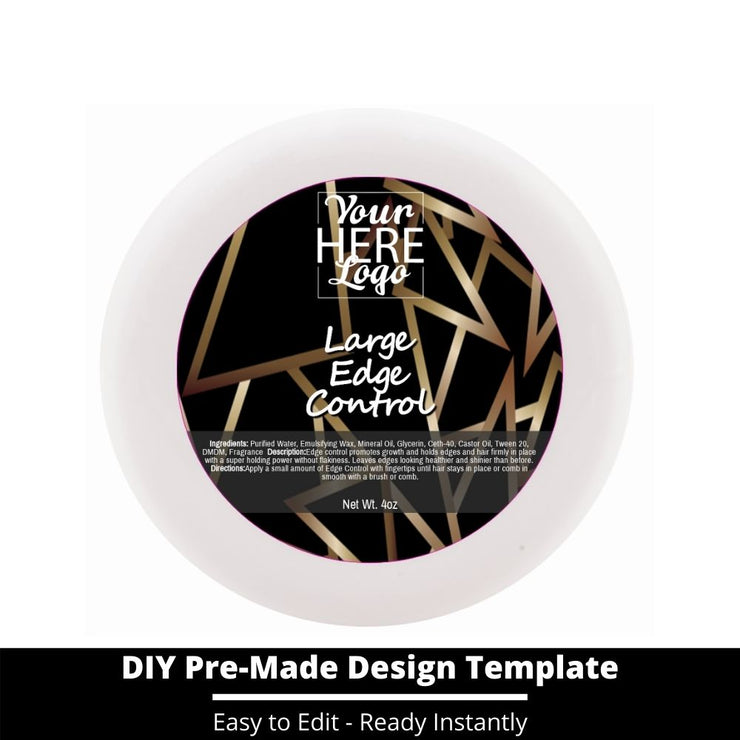 Large Edge Control Top Label Template 49