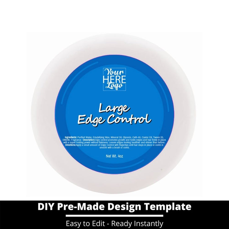 Large Edge Control Top Label Template 53