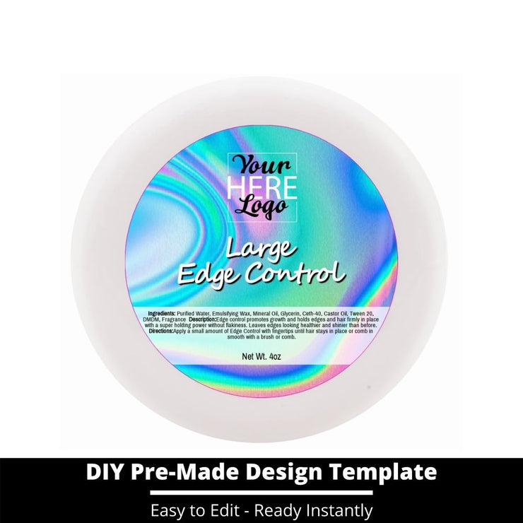 Large Edge Control Top Label Template 57