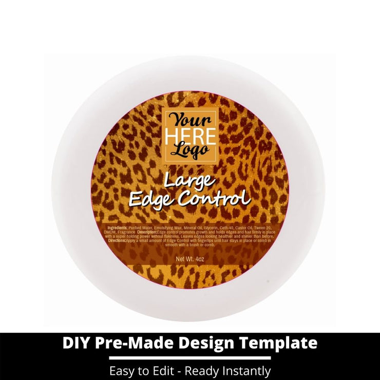 Large Edge Control Top Label Template 58