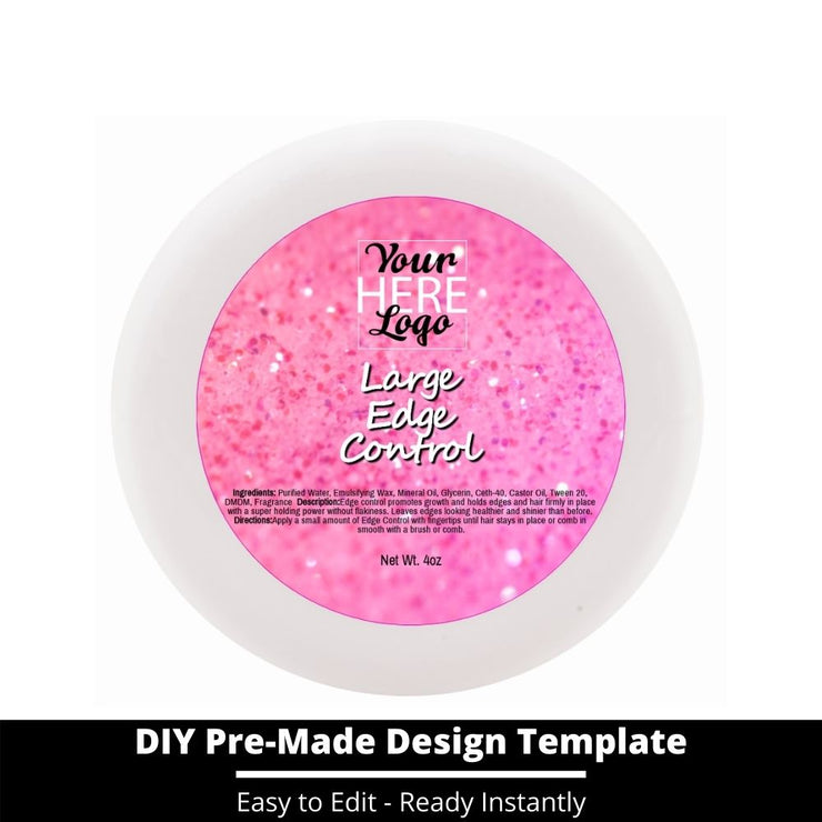 Large Edge Control Top Label Template 59