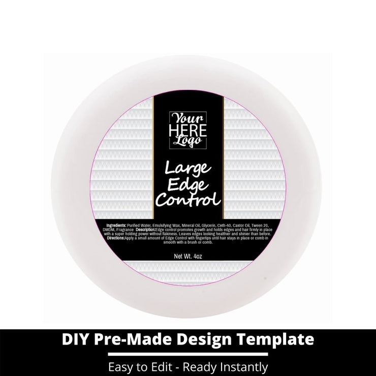 Large Edge Control Top Label Template 68