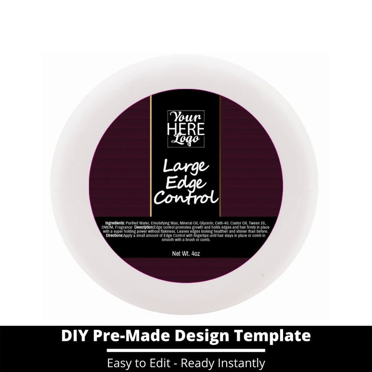 Large Edge Control Top Label Template 69