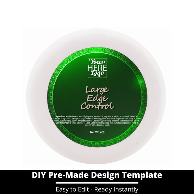 Large Edge Control Top Label Template 77
