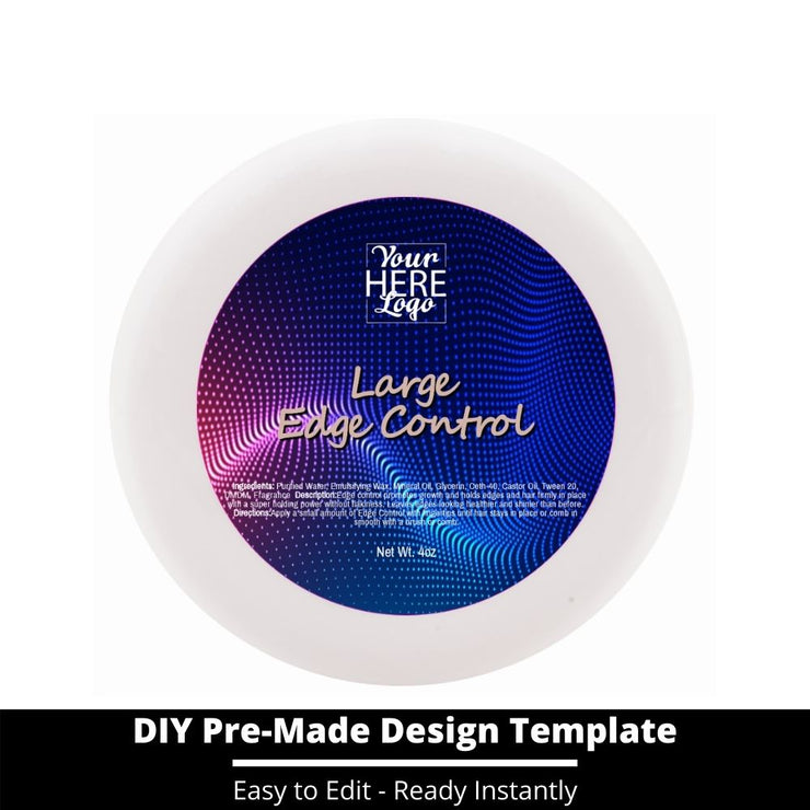 Large Edge Control Top Label Template 79