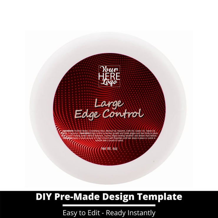 Large Edge Control Top Label Template 80