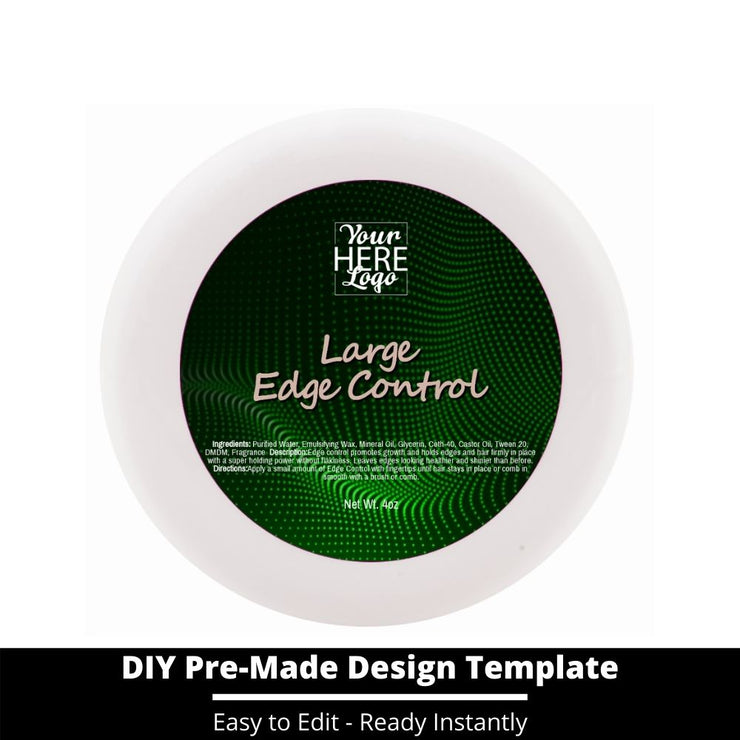 Large Edge Control Top Label Template 81