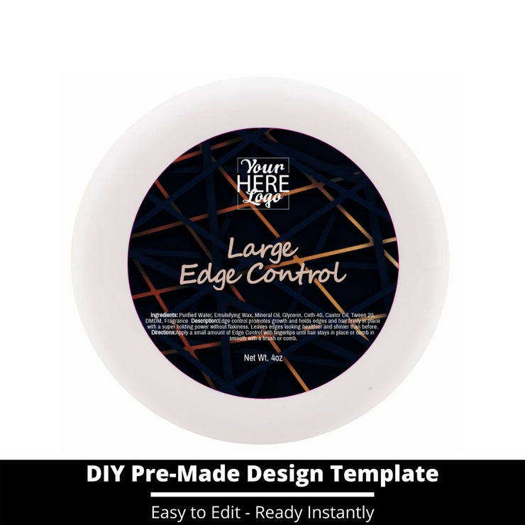 Large Edge Control Top Label Template 84