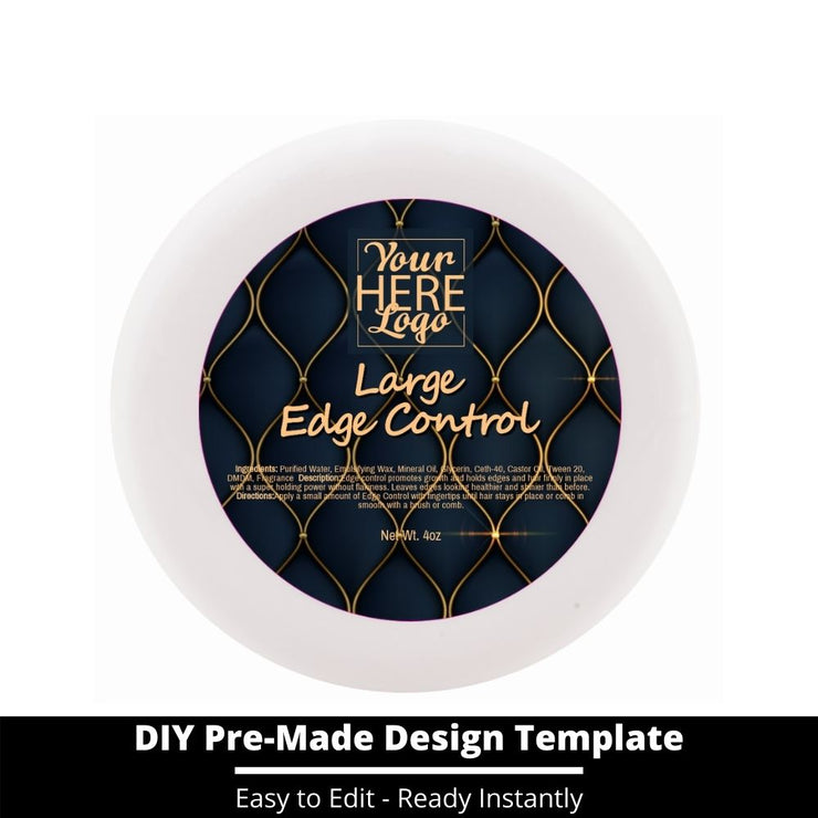 Large Edge Control Top Label Template 102