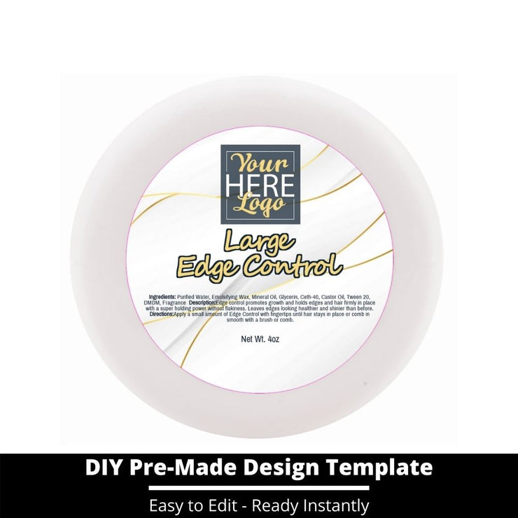 Large Edge Control Top Label Template 103