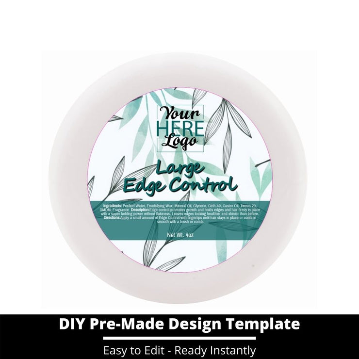 Large Edge Control Top Label Template 107