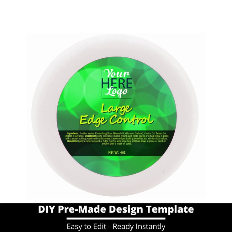 Large Edge Control Top Label Template 123