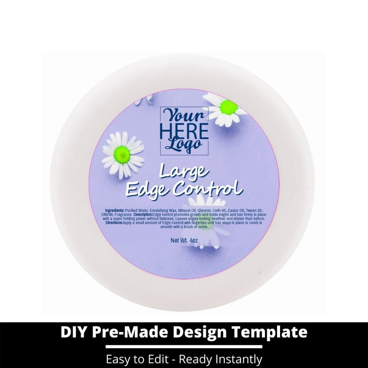 Large Edge Control Top Label Template 126