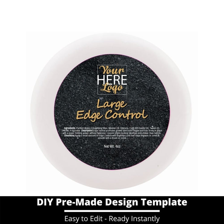 Large Edge Control Top Label Template 131