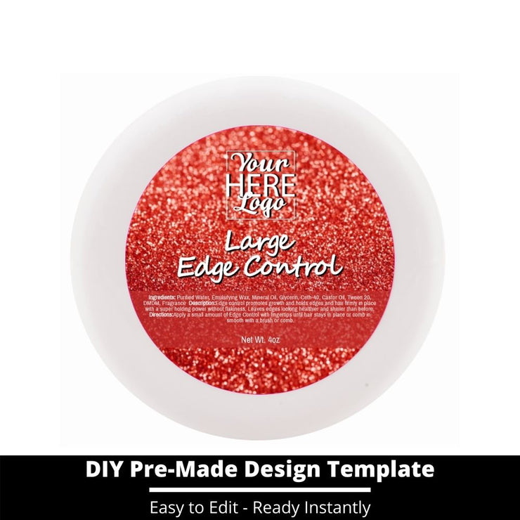 Large Edge Control Top Label Template 141