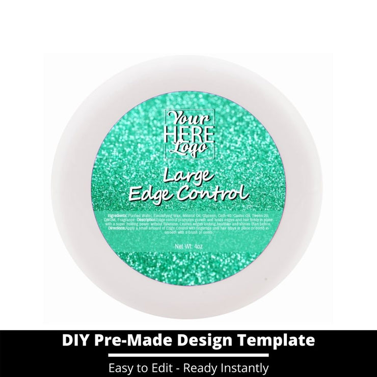 Large Edge Control Top Label Template 142