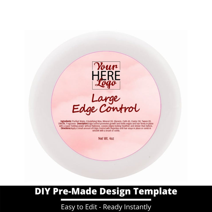 Large Edge Control Top Label Template 143