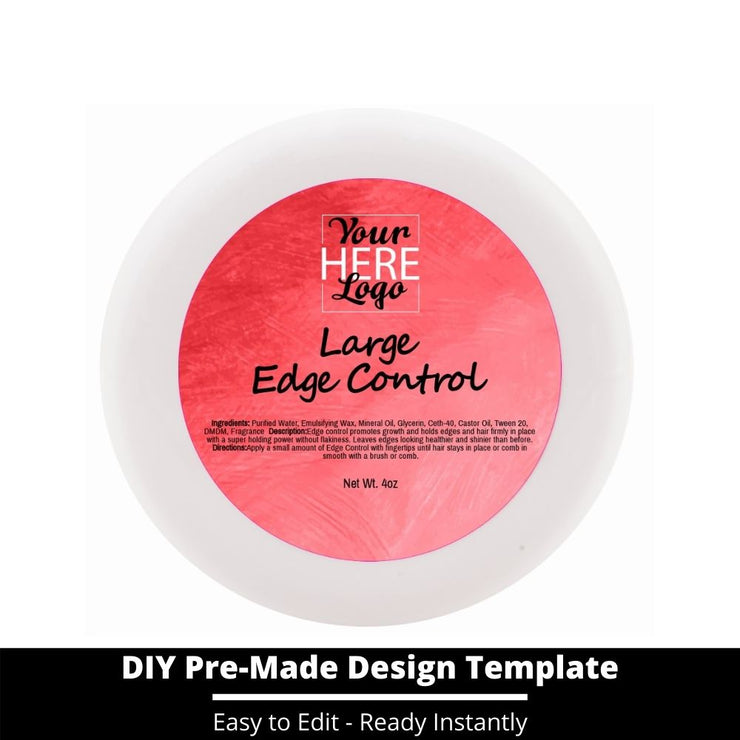 Large Edge Control Top Label Template 146