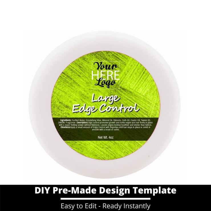 Large Edge Control Top Label Template 149