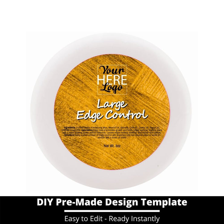 Large Edge Control Top Label Template 150