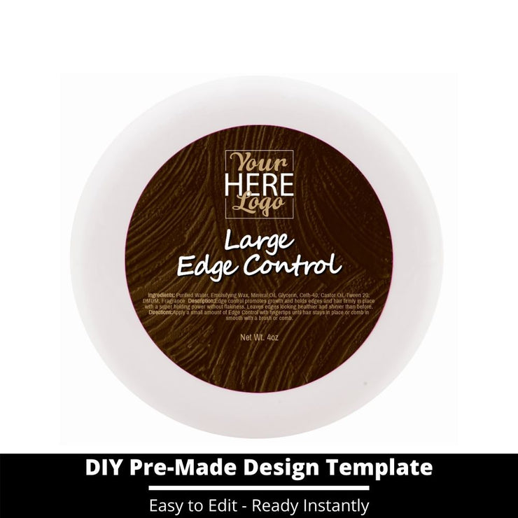 Large Edge Control Top Label Template 151