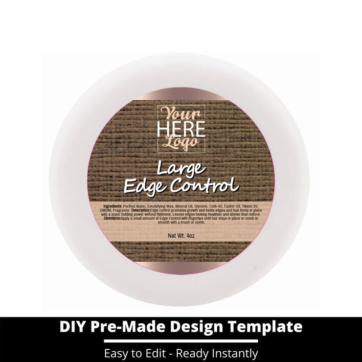 Large Edge Control Top Label Template 155