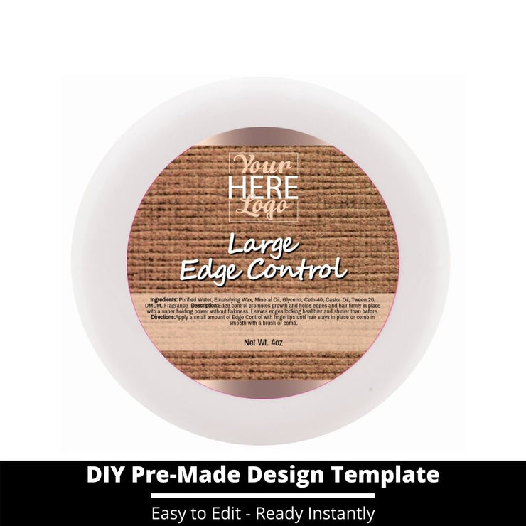 Large Edge Control Top Label Template 156