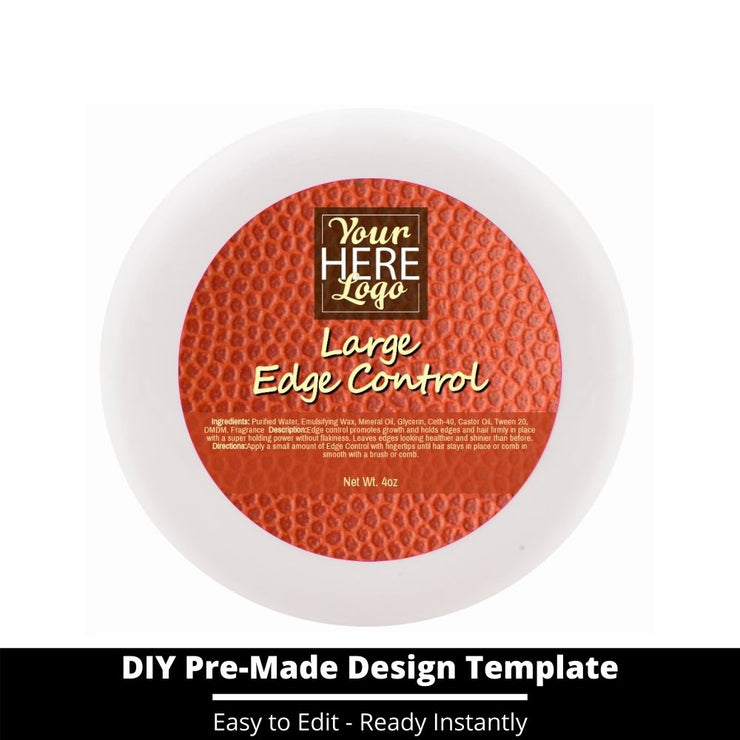 Large Edge Control Top Label Template 162