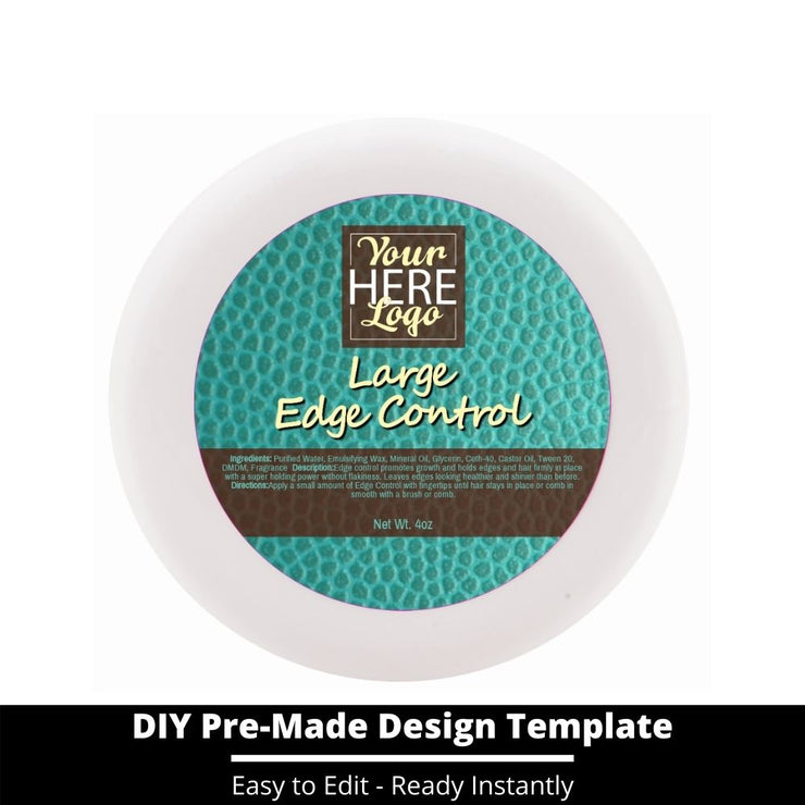 Large Edge Control Top Label Template 163