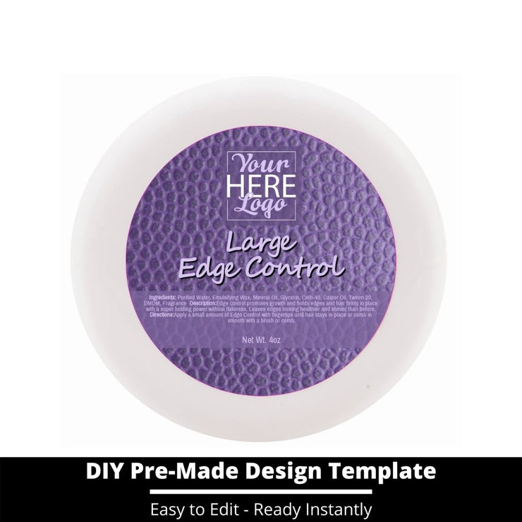 Large Edge Control Top Label Template 164