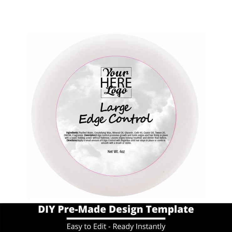 Large Edge Control Top Label Template 167