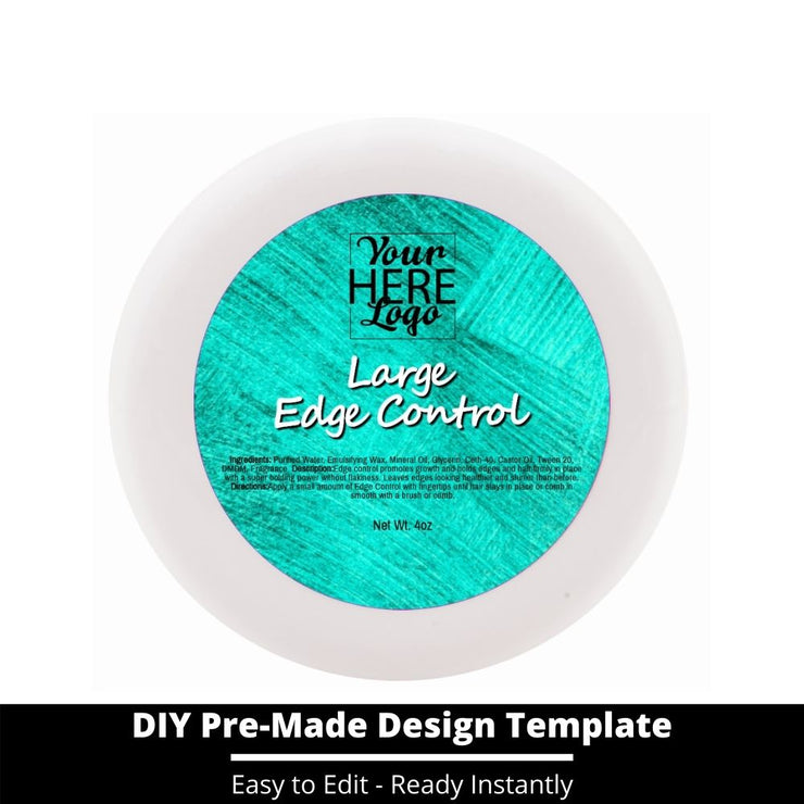 Large Edge Control Top Label Template 169
