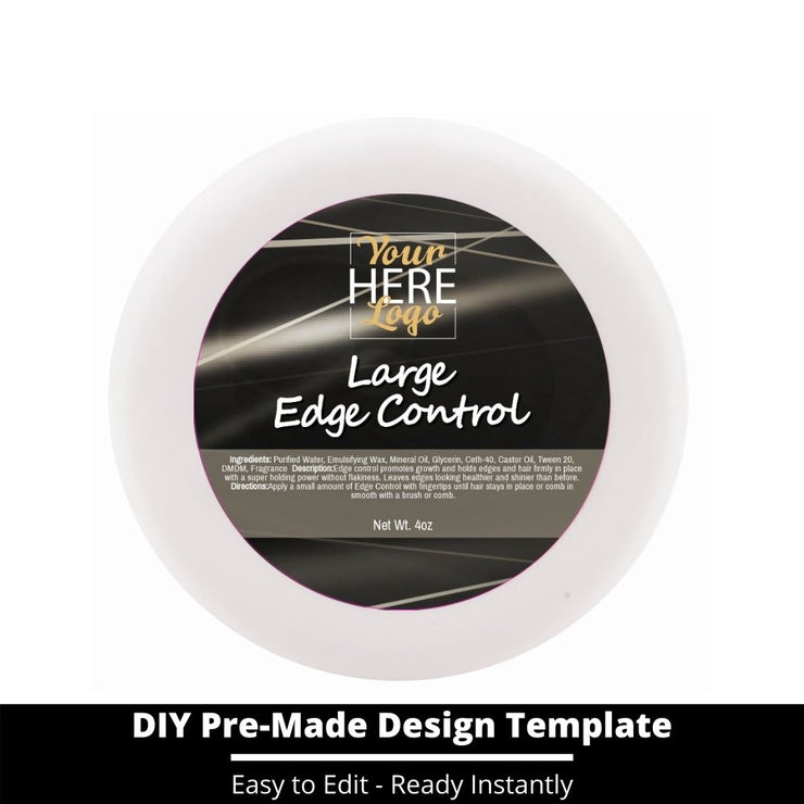 Large Edge Control Top Label Template 171