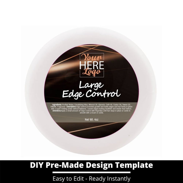 Large Edge Control Top Label Template 172