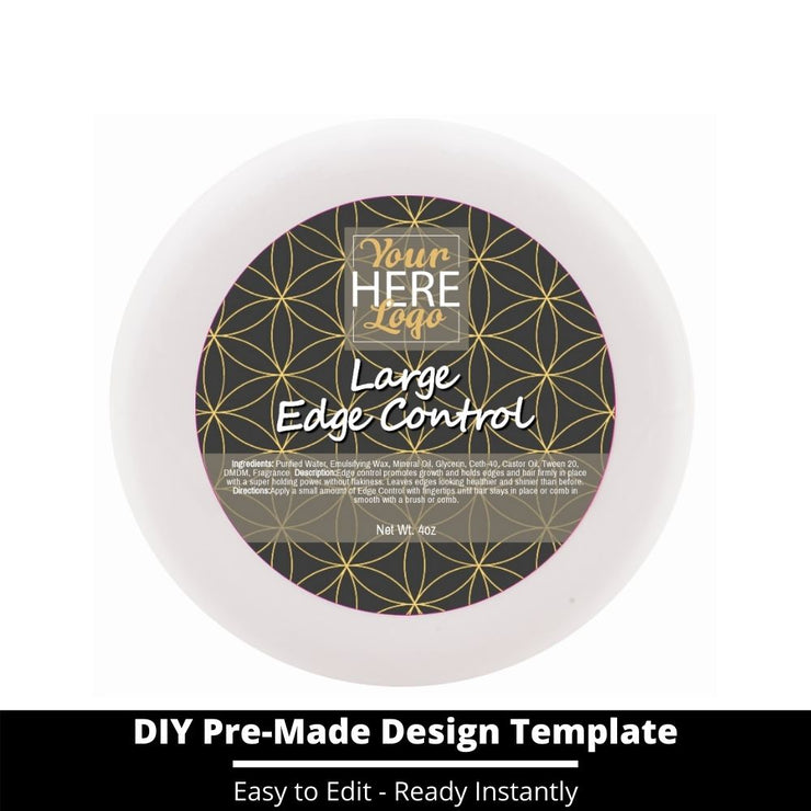 Large Edge Control Top Label Template 175