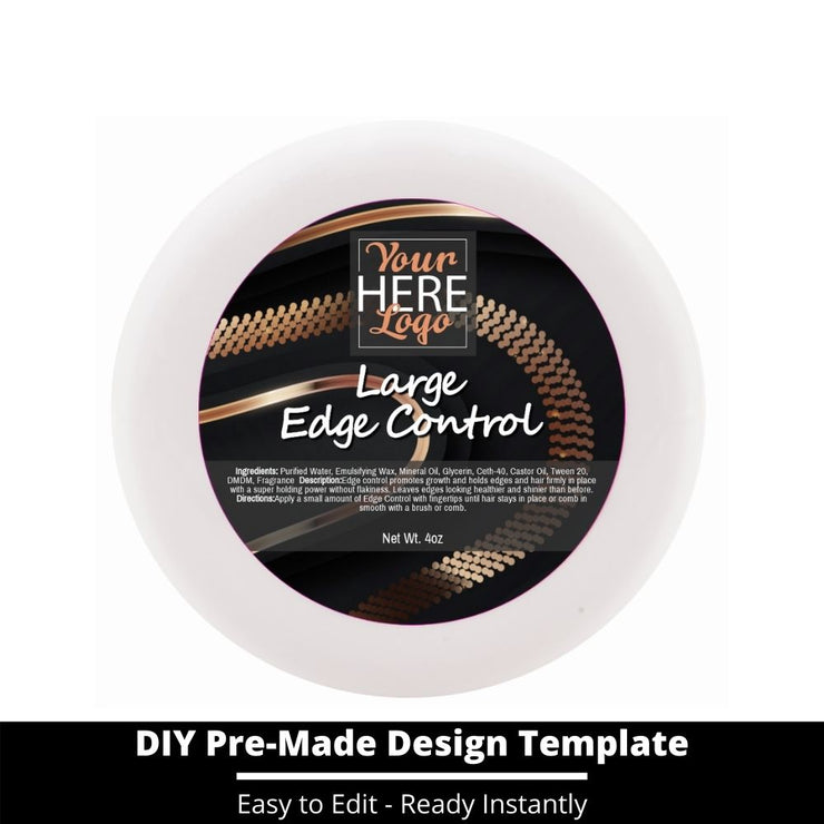 Large Edge Control Top Label Template 187