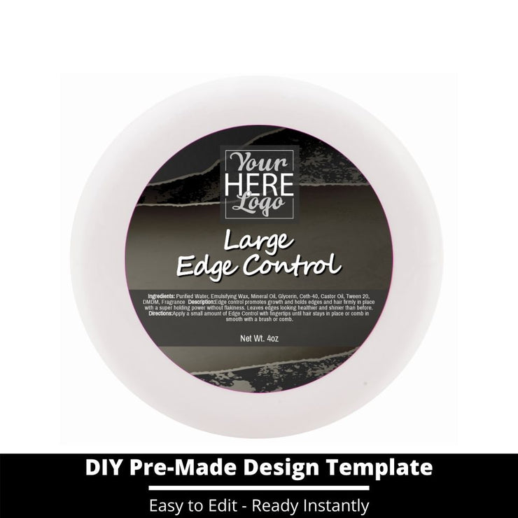 Large Edge Control Top Label Template 192