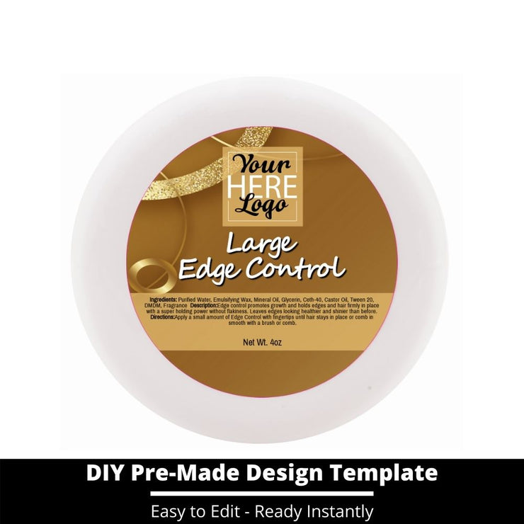 Large Edge Control Top Label Template 193